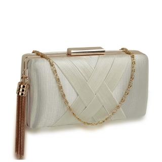 65e709c68 Béžová spoločenská kabelka s príveskom