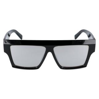 0f6afccff Čierne zrkadlové masívne slnečné okuliare