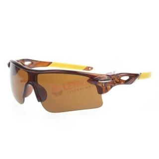 Hnedé športové cyklistické okuliare