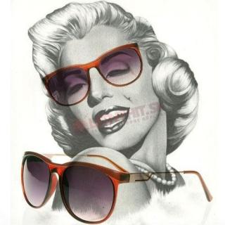 Hnedé dámske retro okuliare