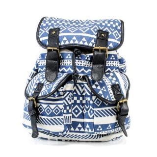 deba88e3aa Modrý vintage ruksak