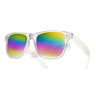 146eb62c0 Farebné zrkadlové okuliare Wayfarer