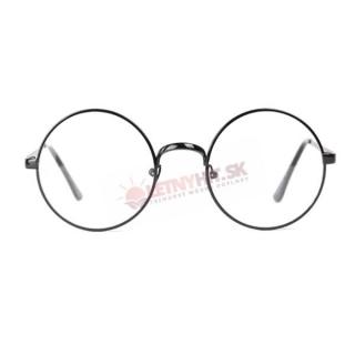 Číre čierne okuliare lenonky empty 212d80540fe