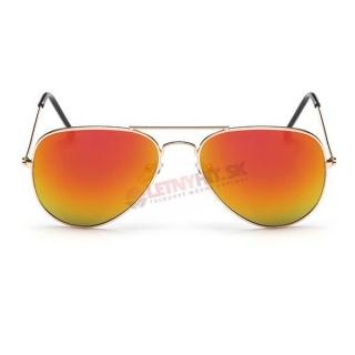 Oranžové zrkadlové okuliare pilotky empty 3b18a788b57