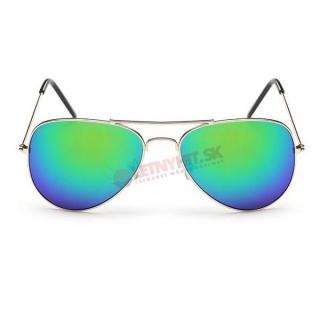 Zelené zrkadlové okuliare pilotky empty b97ae5467bc