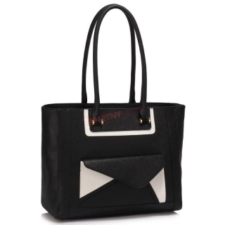 a9a0e9944 Čierno-biela shopper kabelka
